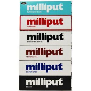 MILLIPUT EPOXY PUTTY - STANDARD, TERRACOTTA, BLACK, GREY, WHITE, TURQUOISE