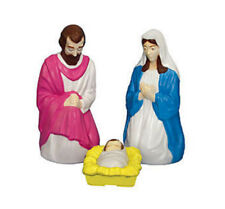 "3 Piece LIGHTED Outdoor 28"" Nativity Scene Set Christmas Jesus Baby Manger Mary"