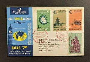 1963 Jakarta Indonesia First Flight Cover to Auckland New Zealand BOAC Comet