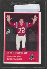 1963 Fleer Football #11 LARRY EISENHAUER Patriots 11961