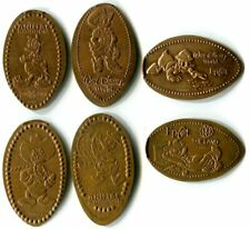 Donald & Daisy Duck Disney World Collection Of Six All-Copper Pressed Pennies