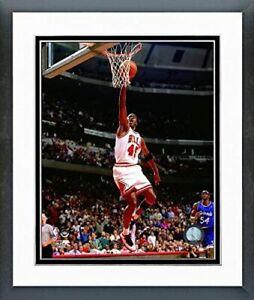 "Michael Jordan Chicago Bulls NBA Action Photo (Size: 12.5"" x 15.5"") Framed"