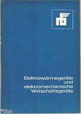 Katalog Elektrowärmegeräte DDR 1984 Maschinenbau Staubsauger Lüfter Öfen Heizer