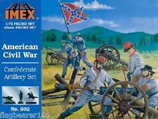 IMEX 502 CONFEDERATE ARTILLERY. AMERICAN CIVIL WAR. 1:72 SCALE. PLASTIC FIGURES