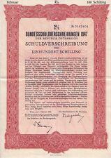 Bundesschuldverschreibung der Republik Österreich  1952