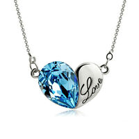 Magic Castle Heart Crytal Pendant Necklace Xmas Birthday Valentine Gift for Her