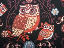 Night Owls Bird Brown Black Exclusively Quilters Fabric Yard