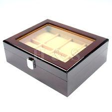 Alta Calidad De Madera Reloj Pantalla Caja de almacenamiento en el pecho Joyas caso Organizador-W8