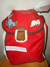 SAC A DOS / SAC A GOUTER T'CHOUPI ET SES AMIS ROUGE/MARRON NEUF
