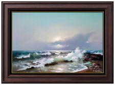 EUGENE GARIN Original Transparent Wave Painting Large Oil On Canvas Signed Art