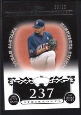 JOHAN SANTANA 2008 TOPPS MOMENTS & MILESTONES #87 BLACK TWINS SP #10/25