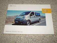 Manual de instrucciones Opel Vivaro, edición 09/2005 (nuevo) #bavi 0905