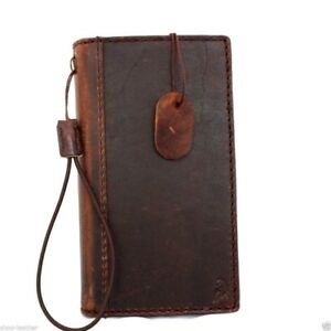 genuine italian leather case for Nokia Lumia 920 book wallet cover brown slim uk