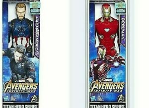 "CAPTAIN AMERICA and IRON MAN FIGURES  Both are 12"" AVENGERS Titan Hero Series FX"