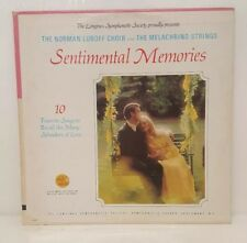 The Norman Luboff Choir and the Melachrino Strings Sentimental Memories Longines