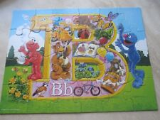 SESAME STREET PUZZLE IS BROUGHT TO YOU BY THE LETTER B*24 PIECE*AGES 3-7* USED