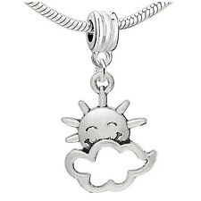 Happy Sun With Cloud Charm Bead