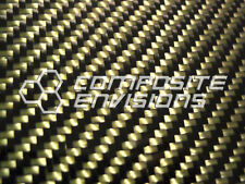 """Carbon Fiber Panel Made with Kevlar Yellow .093""""/2.4mm 2x2 twill-12""""x48"""""""