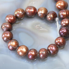 """*10x11mm Freshwater Cultured Pearl Round big (2mm) hole Bead 8"""", pick your color"""