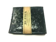 Wholesale lot 12PC (1dz) MENS OSTRICH SKIN GENUINE LEATHER BI FOLD BLACK WALLET
