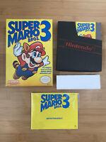 Super Mario Bros. 3 (Nintendo, NES) Complete in Box CIB - Very Great Condition