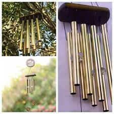 Outdoor Living Window Wind Chimes Yard Garden Bells Chinese Copper Coin 8 Tubes