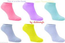 12 Pares de Calcetines Deportivos Tobillo Forro de entrenamiento para mujeres diseño de color mezcla de algodón