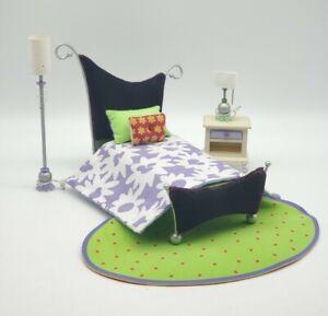 American Girl AG Minis Purple Bed Room Set Complete Illuma