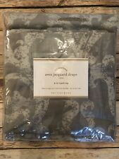 Pottery Barn Aven Jacquard Drape Gray New In Package 96 Inches