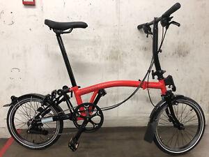 Brompton Black Edition S6L Rocket Red - Immaculate