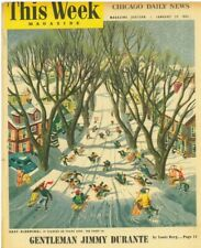 This Week Magazine January 28 1951 Oscar Berger Victor Canning Jimmy Durante