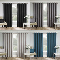 Warwick Thermal Blockout Fully Lined Ready Made Eyelet Ring Top Curtains Pair