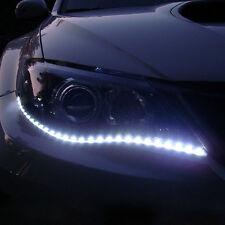 2 Auto Car 12 LED Lichtband Weiß 12V 5050 SMD Streifen Band flexibe Lichtleiste$