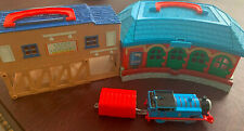 Thomas Take Along And Play Tidmouth Train Roundhouse Shed With Motorized Engine