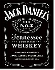 Jack Daniels Tennessee Whiskey Black Logo Bar Pub Wall Decor Metal Tin Sign New