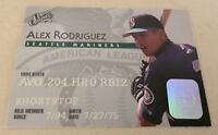 1995 Donruss Studio Alex Rodriguez Baseball Card #18 Seattle Mariners