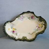 Vtg Limoges M R France Martial Redon Asymmetrical Hand Painted Serving Bowl Dish