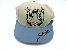 Siegfried & Roy Mens Beige and Blue Snap Back Trucker Hat EUC