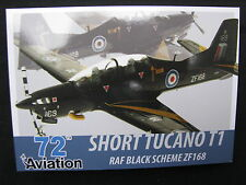 Post Card Aviation 72 Short Tucano T1 RAF Black Scheme ZF168