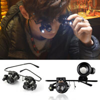 20X Magnifying LED Light Glass Ideal Tool for Jeweler, Watchmaker, Circuit Board