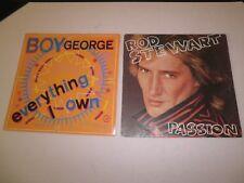 Lot de 2 disques BOY GEORGE & ROD STEWART