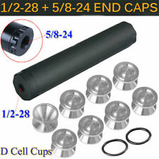 """9""""L D Cell Storage K Cups with 2 End Caps 1/2, 5/8 14PCS Fuel Filter"""