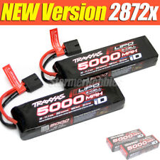 ~NEWEST VERSION~ Traxxas LiPo 11.1V 3-cell 5000mAh 25C Batteries TRA2872X 2 Pack
