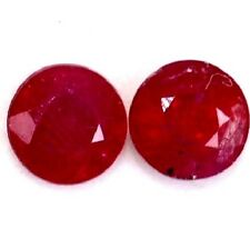 NATURAL RED RUBY GEMSTONES LOOSE 2 pieces ROUND SHAPE  3.5 to 3.7 mm. Top Colour