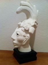Mayan Sculpted Head of King Pakal of Palenque Modern Art