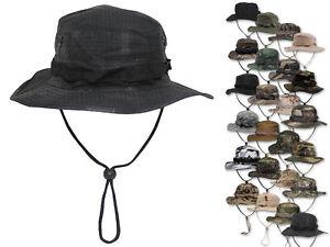 MFH Australian Boonie Hat Buschhut Tropenhut Schlapphut mit Kinnband Mütze S-XL