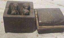 Rare Antique Ancient Egyptian 4 Canopic Jars + Box Internal Organs Mummy 1630 Bc