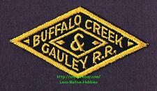 """LMH Patch  BUFFALO CREEK & GAULEY Railroad  BC&G BCG Railway pre Elk River WV 4"""""""