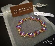 SORRELLI Round Cut Classic Bracelet in ULTRA RUBY - BCY55BGUR NWT $90