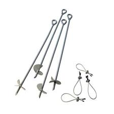 ShelterLogic 30 in. Auger Anchors, Gray, Set of 4